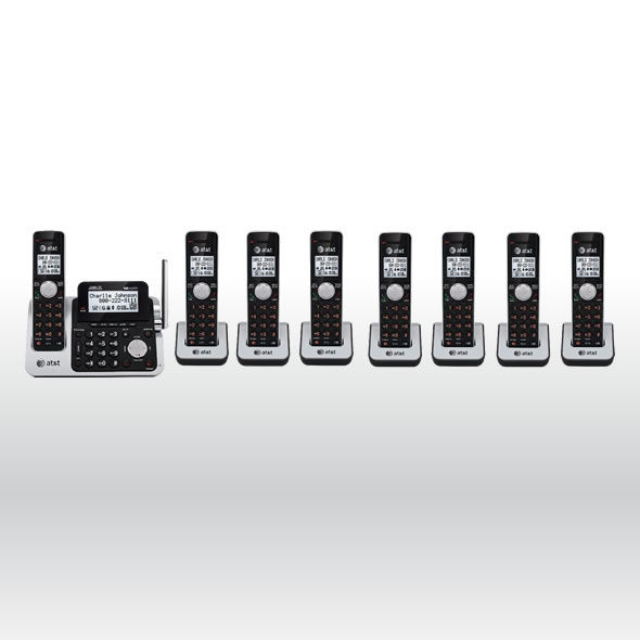 AT&T CL83201 CL83101 CL83301 CL83351 DECT 6.0 Cordless Phone System w 8 Handsets bg