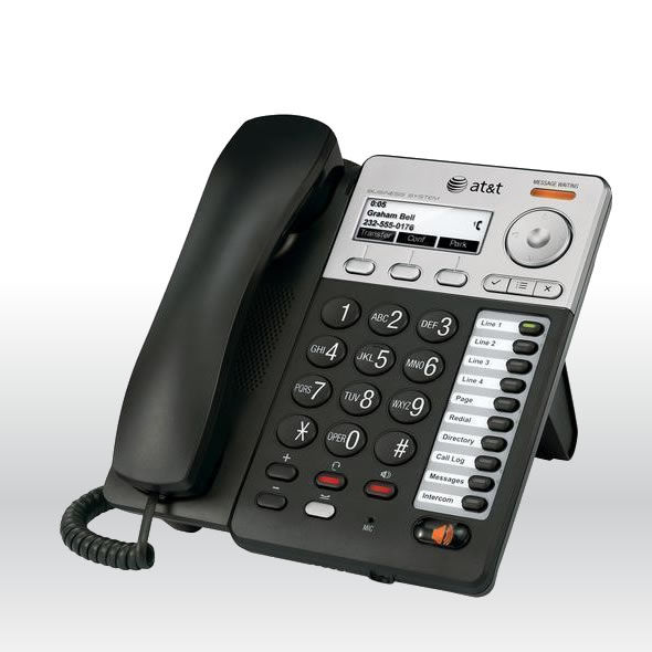 AT&T SB67025 Synapse Basic Corded Deskset With Caller ID & Speakerphone bg