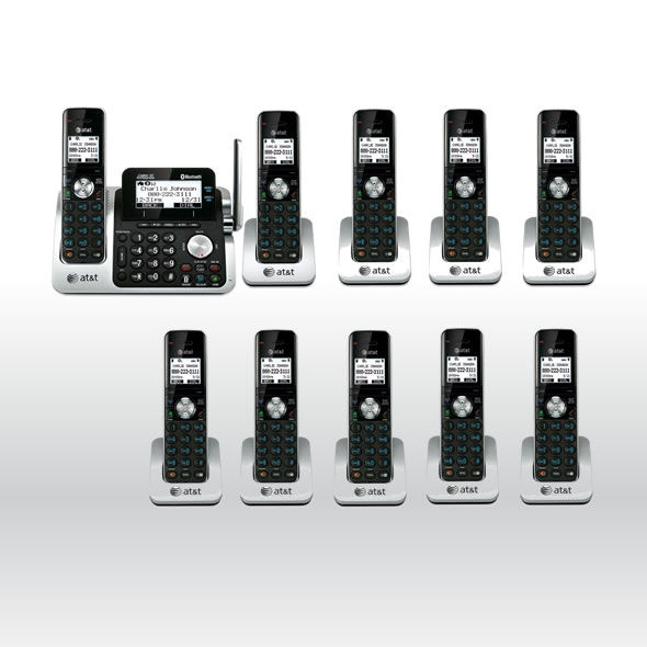 AT&T TL96271 DECT6.0 Cordless Bluetooth to Cell Phone 10 Handset Phone System bg