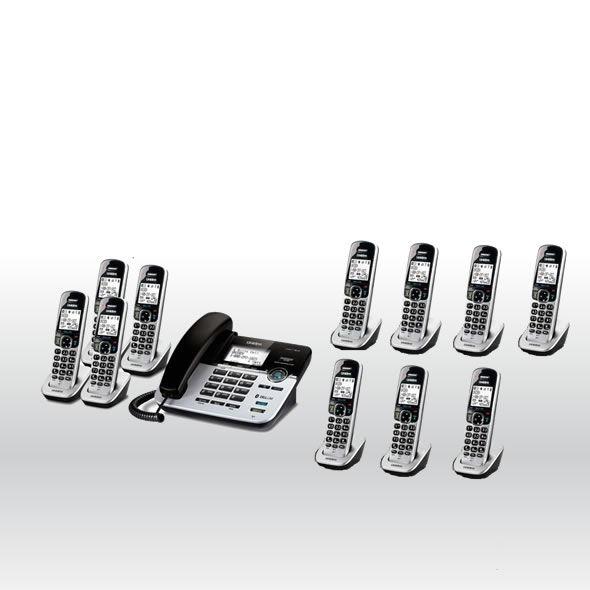 Uniden D1789-11BTABB DECT 6.0 Cordless Phone w 11 Cordless Handsets - D1789-4BT