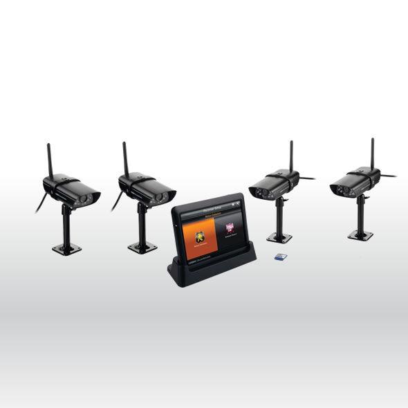 Uniden GUARDIAN G755 Wireless Surveillance System w 7 MONITOR & 4 GC45 CAMERA