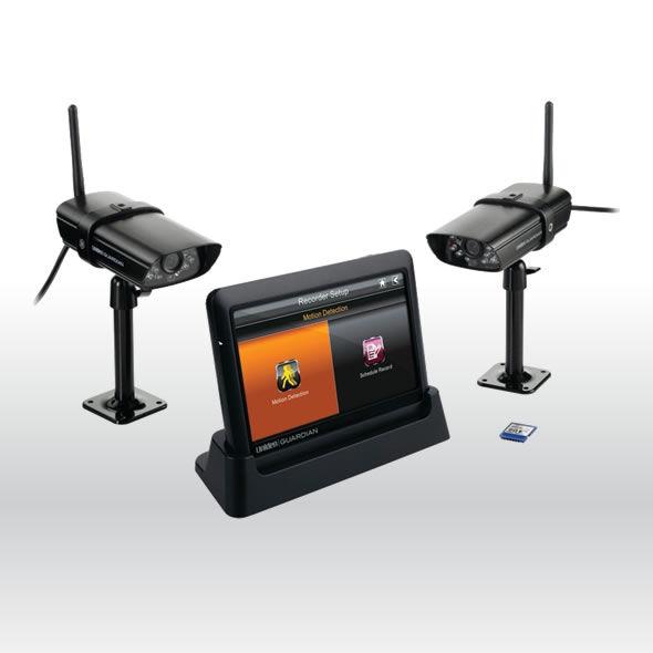 Uniden GUARDIAN G755 Wireless Surveillance System with 7 MONITOR & 2 CAMERAS