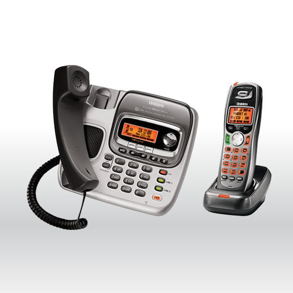 Uniden TRU9496 5.8GHz 2 Line Corded Cordless Phone System with Digital Answering bg
