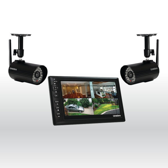Uniden UDS655 Wireless Surveillance System 7 MONITOR, 2 CAMERAS Included bg