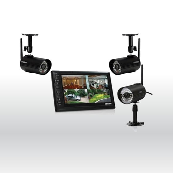 Uniden UDS655 Wireless Surveillance System with 7 MONITOR, 3 CAMERAS Included bg