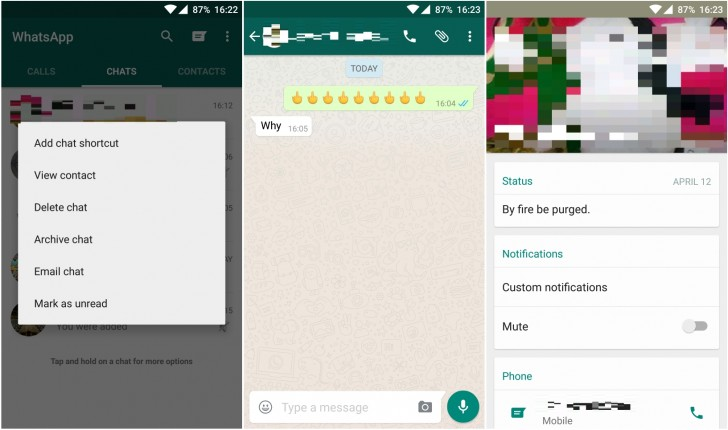WhatsApp for Android gets updated