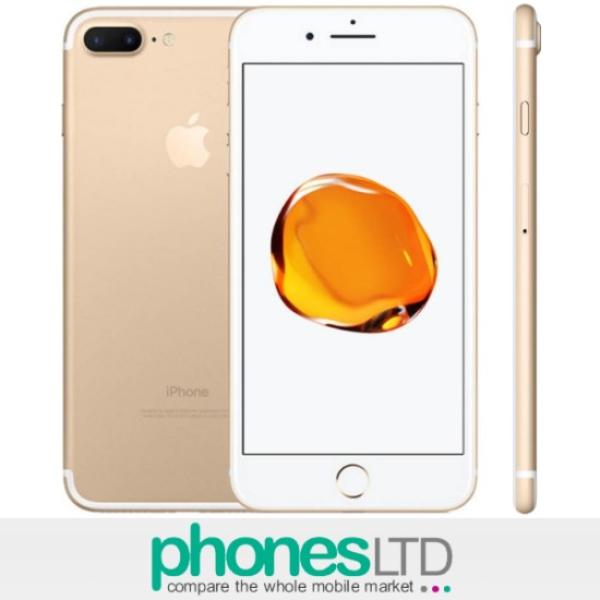 apple iphone 7 plus 32gb gold ee o2 vodafone upgrade. Black Bedroom Furniture Sets. Home Design Ideas