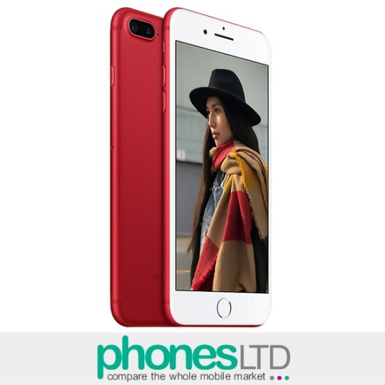 108b64c707fba9 Compare Apple iPhone 7 Plus 256GB (PRODUCT) RED O2 Deals - Phones LTD