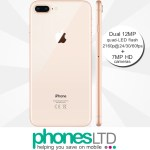 iPhone 8 Plus 64GB Gold contract deals