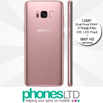 Samsung Galaxy S8+ Rose Pink Gold contract deals