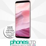 Samsung Galaxy S8+ Rose Pink Gold upgrade deals