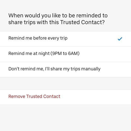How to Send Your Uber Trip Status to Trusted Contacts if You're Ever