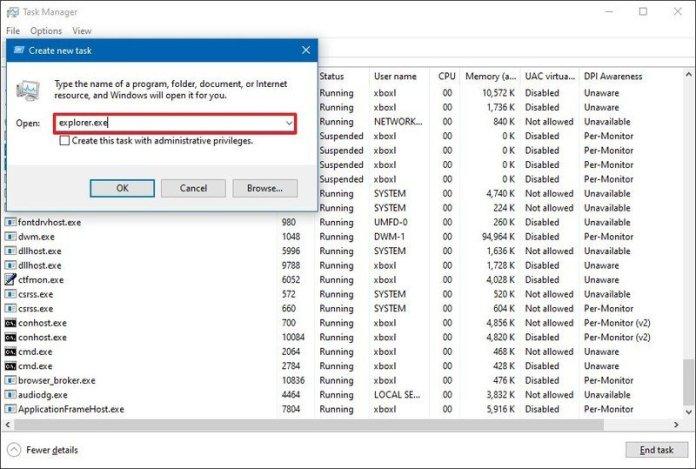 How to restart Explorer exe to fix a frozen desktop, Start