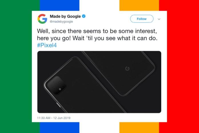 google pixel 4 tweet