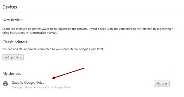 Save document to Google Drive
