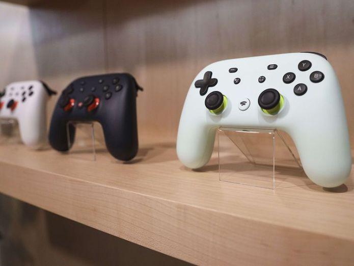 Google Stadia gaming system controller