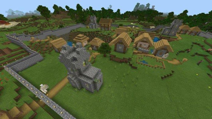 Da village is dafended