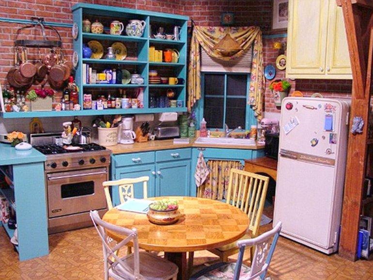 Friends kitchen Zoom background