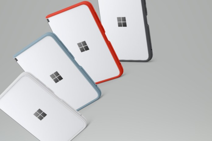 Surface Duo colourful bumper case