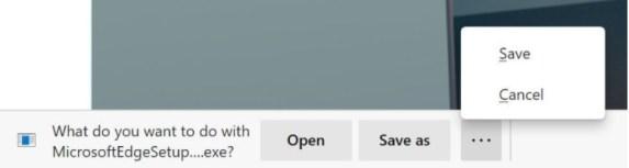 New Edge downloads UI