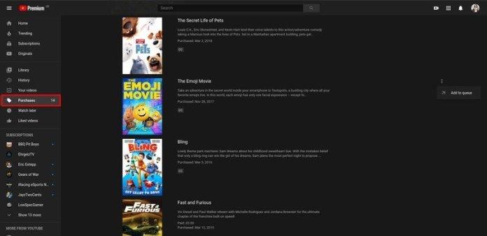 Google Play Movies on Windows 10