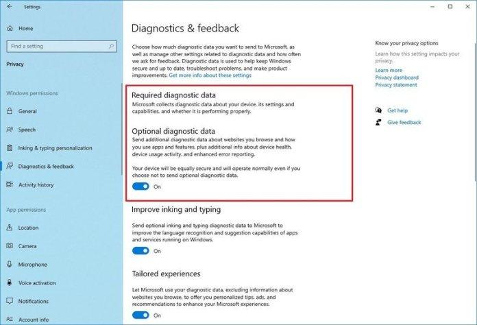 Diagnostics & Feedback improvements