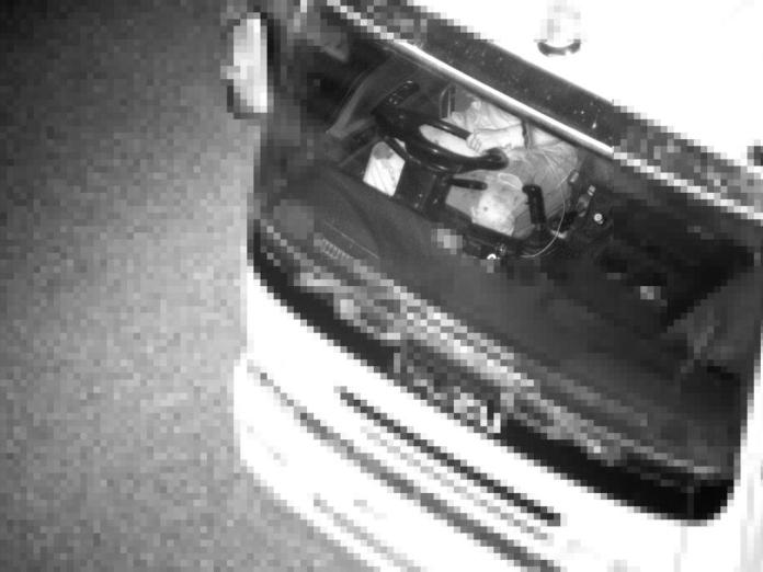 A truck driver caught by covert camera without a seatbelt