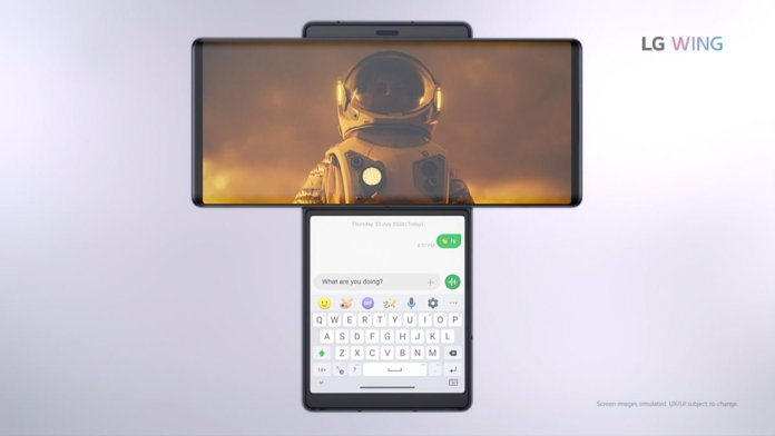 LG Wing video + chat