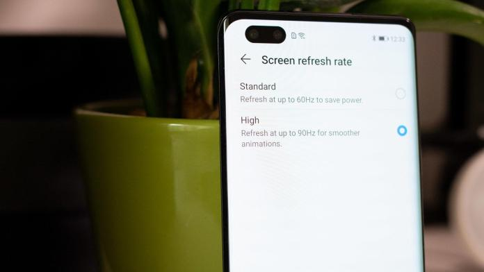 Honor 30 Pro+ black rear refresh rate