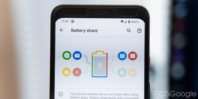 Android 11 Pixel 5 redfin Battery Share