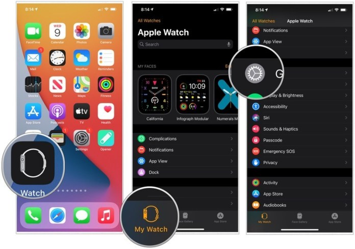 To remove the beta profile from your Apple Watch, launch the Watch app on your iPhone, then tap the My Watch tab. Choose General.