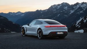 Image of the exterior of a Porsche Taycan