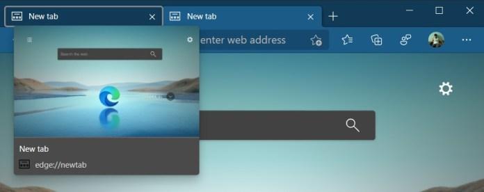 Microsoft Edge tab previews