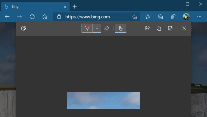 Edge web inking feature
