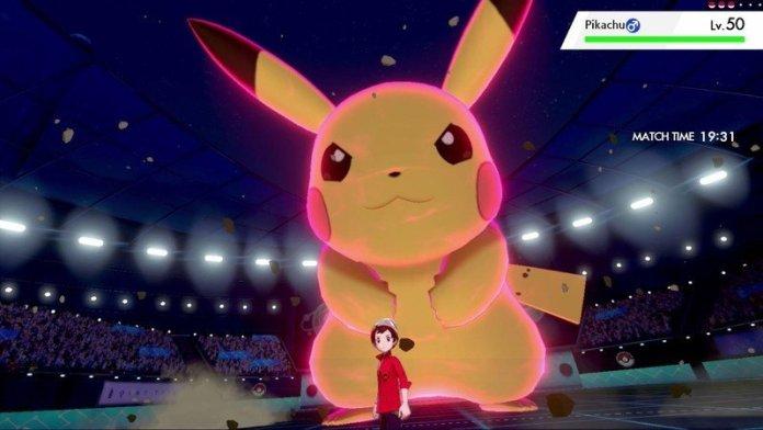 Pikachu Dynamax in Pokemon Sword and Shield