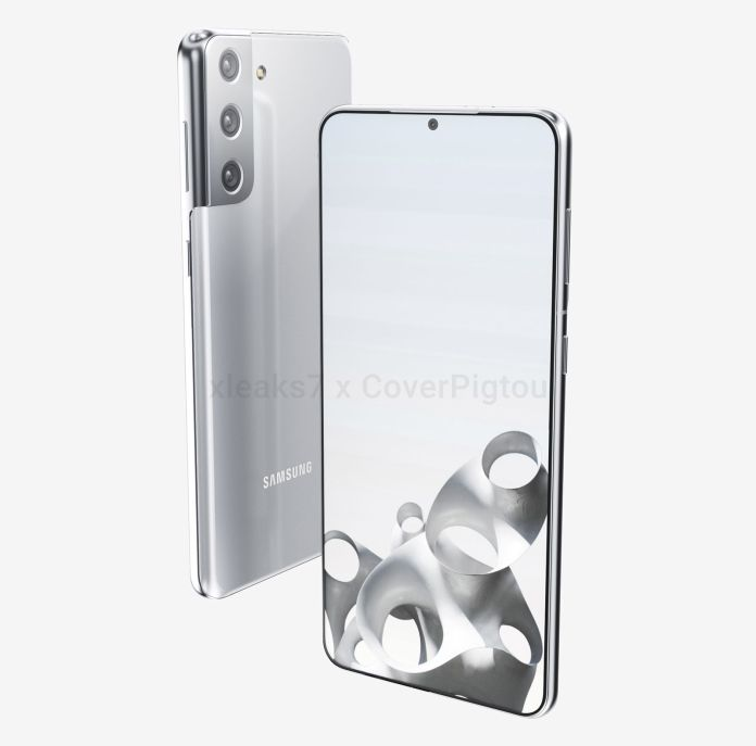 Samsung Galaxy S21 S30 Plus front back overlap render leak CoverPigtou