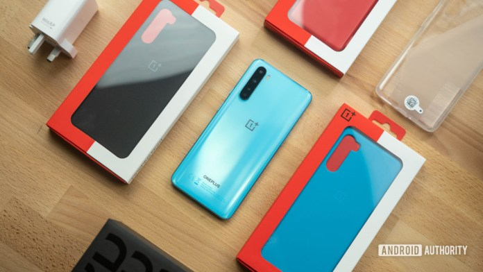 OnePlus Nord Top down unboxing media kit