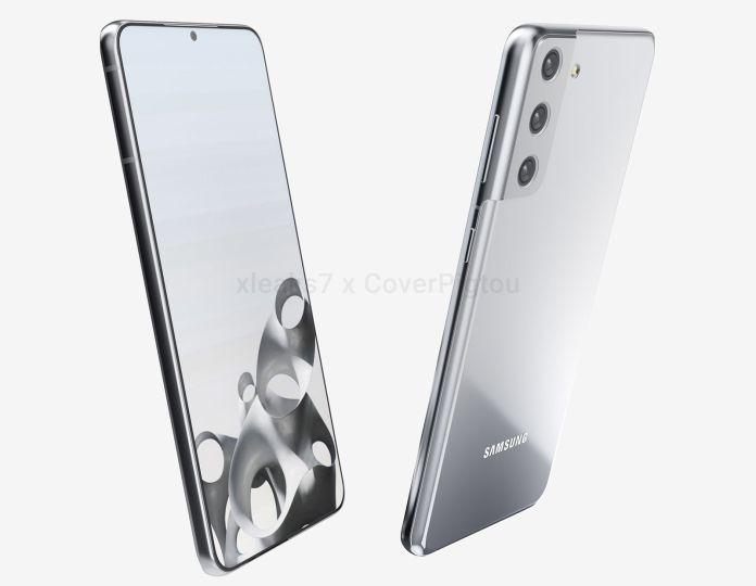 Samsung Galaxy S21 S30 Plus front back v render leak CoverPigtou