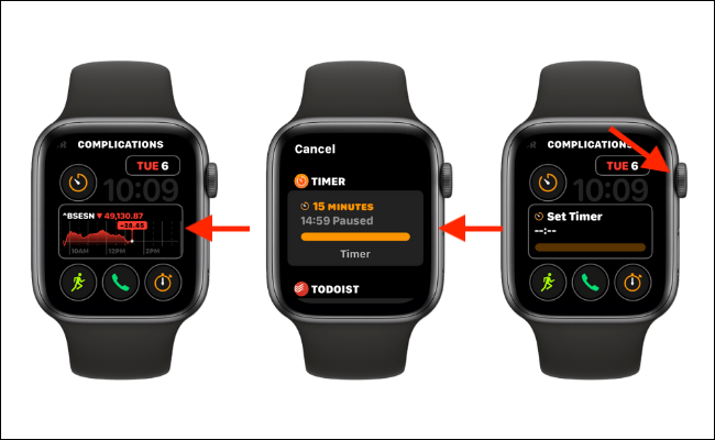 Set the Timer Complication and Press Digital Crown