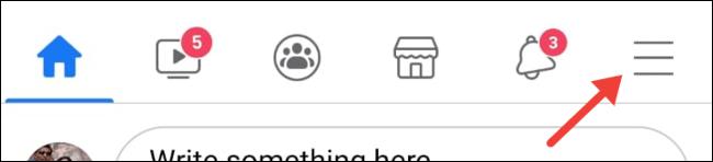 Tap three-dot menu on Facebook app