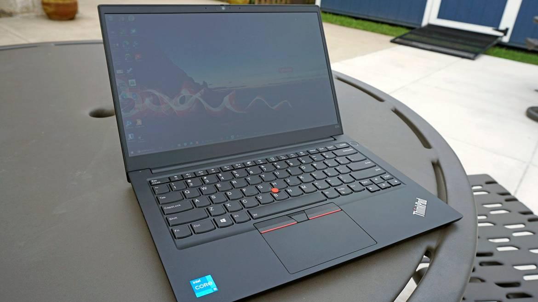 ThinkPad E14 open with keyboard