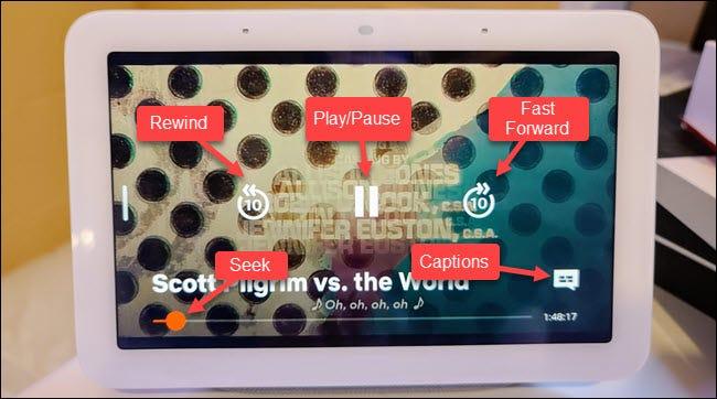 netflix on screen options
