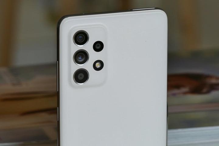 The Samsung Galaxy A52 5G's rear camera module