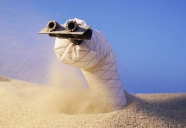 burrowing robot