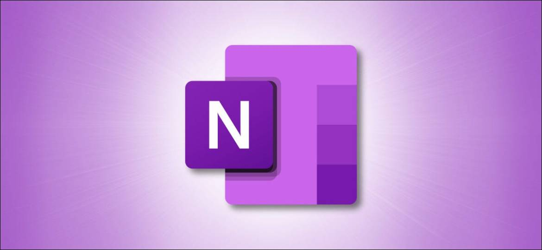 Microsoft OneNote Logo on Purple Background