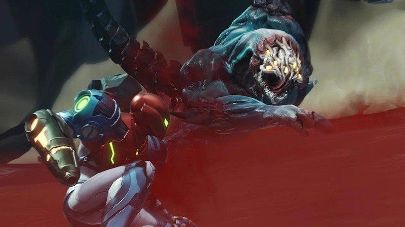Metroid Dread Battle