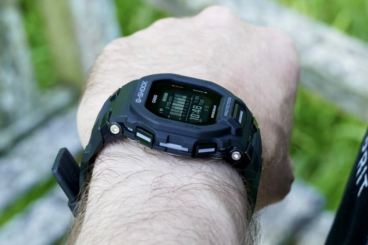 Casio G-Shock GBD-200 buttons.