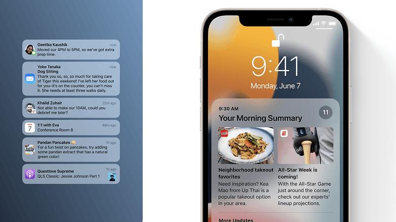 apple ios 15 notifications