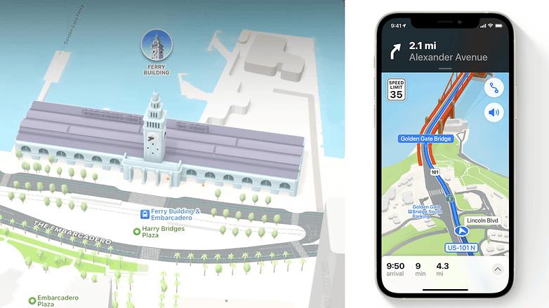apple ios 15 maps navigation