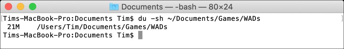 du macOS Terminal Command